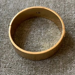 Madewell Hammered Gold Bangle